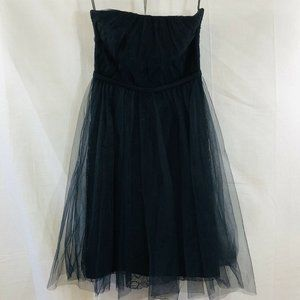 White by Vera Wang Black Strapless Party Dress